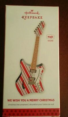 2013 HALLMARK KEEPSAKE ORNAMENT, ELECTRIC GUITAR, NEW with magic sound