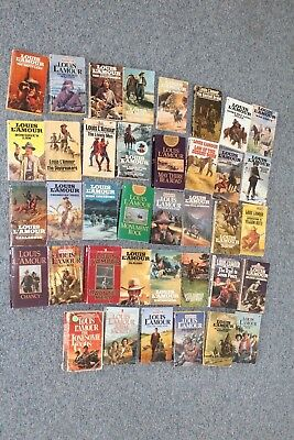 Lot of 37 Used Louis L'amour Paperbacks