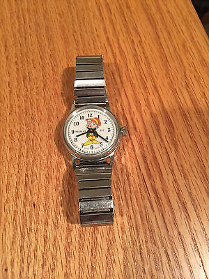 Vintage 1960s Ernie Keebler Swiss Made Windup Watch Advertising NEW *RARE HTF*