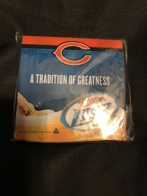 Miller Lite Chicago Bears Coasters New & New! Miller Lite Chicago Bears Pop Up Canopy Tent! Nib!! 5u0027 X 5 ...