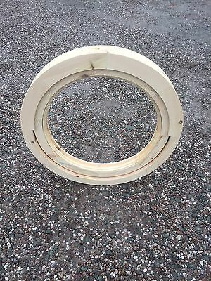 Round wooden window opening 600 m/m For Painting Or Staining