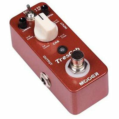 Mooer Micro Compact Trescab Cab Simulator Effects Pedal, MTS1