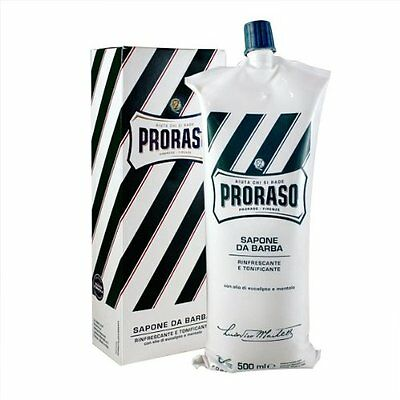 Proraso 500ml XL Menthol & Eucalyptus Shaving Cream - Barber Size (bladder)