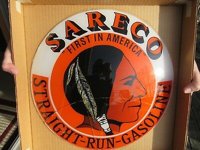 Original 1980 Sareco Gas Globe Lens With Indian On It Fantasy Lens But Rare