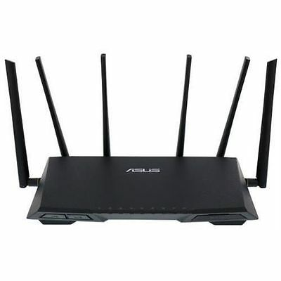 ( R ) ASUS RT-AC3200 Tri-Band 3x3 3167 Mbps Gigabit Gaming Router x 4 ports
