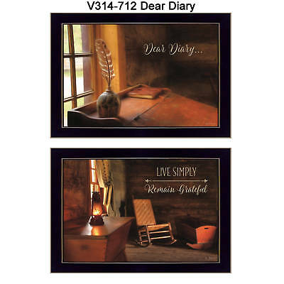 """Dear Diary"" Collection By Lori Deiter, Printed Wall Art, Ready To Hang Framed"