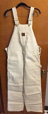 CARHARTT Men's Natural White Overalls 34 X 32 Irregular, New With Tags