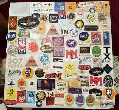 LOT OF 97 Beer Brewery Distillery WINERY Labels Decals STICKERS  ALL STICKY BACK