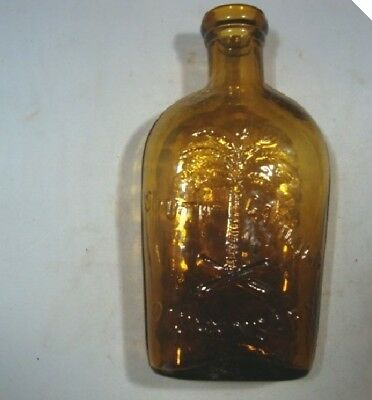 1970 Amber 1/2 Pint Tricentennial S C Dispensary Flask With Papers-Repo