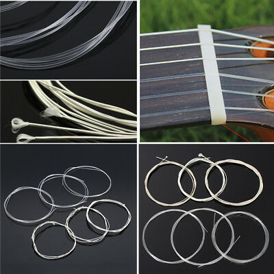 6 Pcs Acoustic Guitar Nylon Strings Wound Clear Gauge Set for Classic Guitar Hot