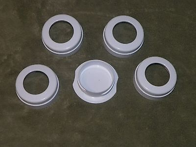 Four Avent Bottle Rings And One Travel Cover - Free Shipping