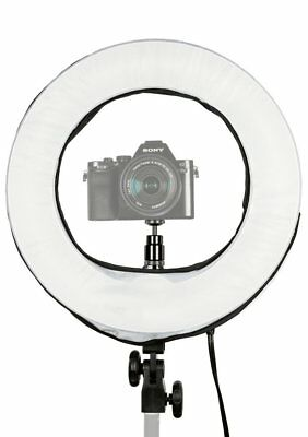 """Prismatic 14"""" Mini Halo Dimmable Ring Light with 6' Light Stand"""