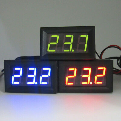Digital 12V LED Temperature Monitoring Thermometer Meter w/ Temp Probe -50~110℃