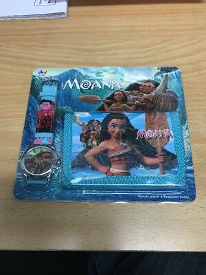 Moana watch and wallet set