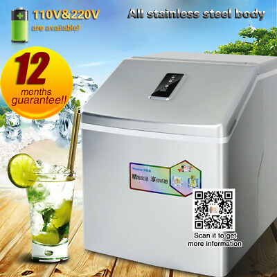 25kg commercial ice machine,automatic ice maker machine with 24pcs ice/times