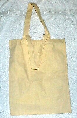 CALICO BAGS -TOTE -NATURAL approx 30cmx38cm