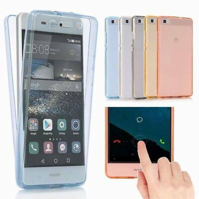 Shockproof TPU 360° Protect Clear Silicone Case Cover for Huawei P8 P9 Lite P10