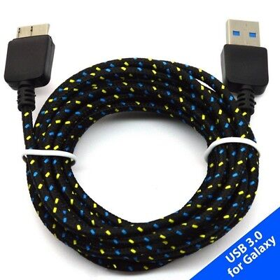 Fabric Braided Micro USB 3.0 Data Sync Charger Cable for Samsung Galaxy S5 Note3