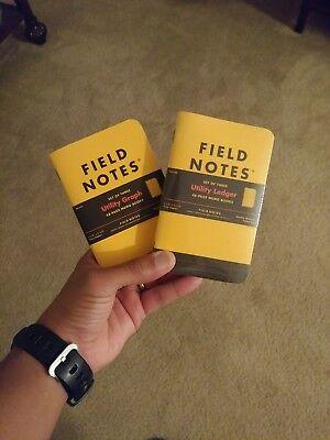 Field Notes Utility Graph (FNC-34a) and Ledger (FNC-34b), 3 Pack Notebooks