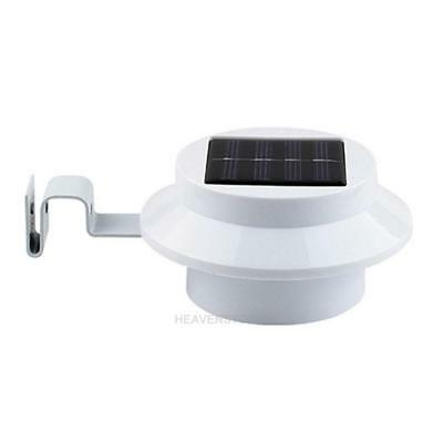 Outdoor Solar Power 3 Led Light Garden Fence Yard Wall Gutter Pathway Lamp hv2n