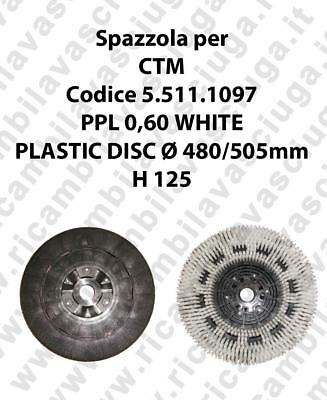 Cleaning Brush PPL 0,60 WHITE for scrubber dryer CTM Code 5.511.1097