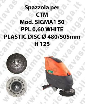 Cleaning Brush PPL 0,60 WHITE for scrubber dryer CTM Model SIGMA1 50