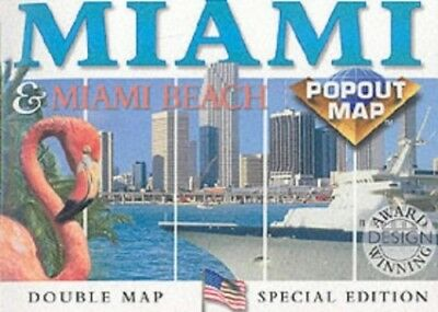 Miami and Miami Beach (USA PopOut Maps) by Compass Maps Sheet map Book The Cheap