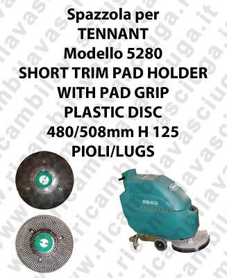 SHORT TRIM PAD HOLDER WITH PAD GRIP for scrubber dryer TENNANT mod 5280