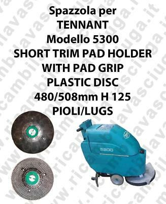 SHORT TRIM PAD HOLDER WITH PAD GRIP for scrubber dryer TENNANT mod 5300