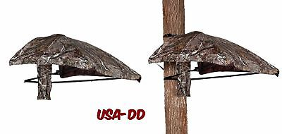 Hunting Tree Stand Conceal Roof Summit Ladder Lightweight Camo Protects  Elements