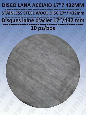 PAD steel wool  17 /  432 mm  10 pieces PER SCATOLA, for scrubber dryer e single