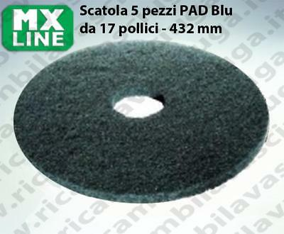 MAXICLEAN PAD, 5 peaces/box ,bluee color from da 17 inch - 432 mm | MX LINE