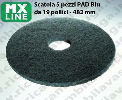 MAXICLEAN PAD, 5 peaces/box ,bluee color from da 19 inch - 482 mm | MX LINE