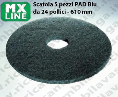 MAXICLEAN PAD, 5 peaces/box ,bluee color  24 inch - 610 mm | MX LINE
