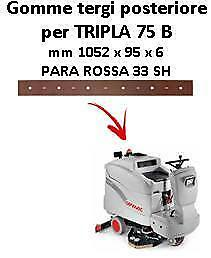 TRIPLA 75 B Back Squeegee rubber Comac