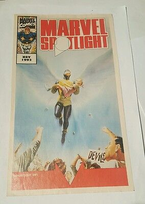 marvel spotlight 1993 fanzine , x-men angel cover