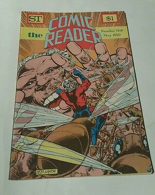 St the comic reader # 168, 1979 ant man cover , bob layton