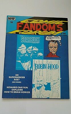 Comic fandom's forum # 10, 1982