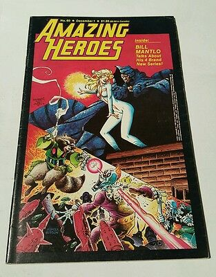 Amazing heroes # 60, 1984, rocket raccoon, cloak & dagger cover