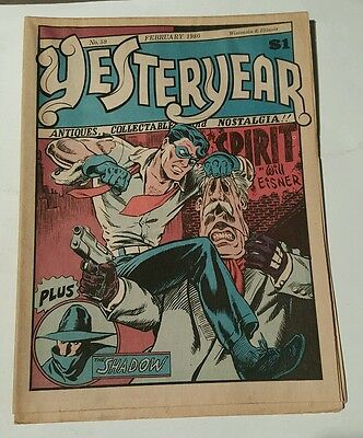 Yesteryear #59, 1980 spirit ,will eisner cover