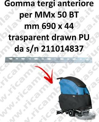 MMx 50 BT Front Squeegee rubber for FIMAP accessories, reaplacement, spare parts
