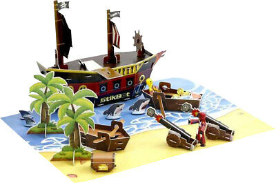 Brainstorm Childrens Educational Toys Animated StikBot Pirate Movie Set