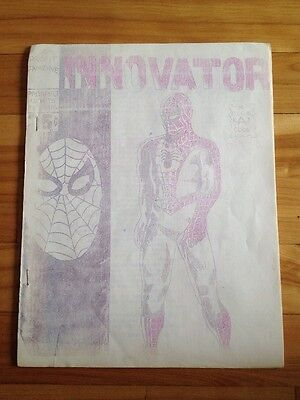 innovator 1960's / 1970's fanzine ( spiderman cover )