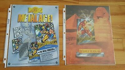 Marvel metal 1995 checklist sell sheet + promo sheet