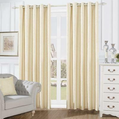 Fully Lined Venitia Swirl  Pattern Eyelet Curtains with Tie Backs (NO76)