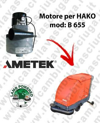 B 655 LAMB AMETEK vacuum motor for scrubber dryer HAKO