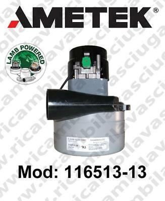 Vacuum motor 116513-13 LAMB AMETEK for scrubber dryer