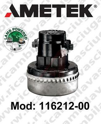 Vacuum Motor LAMB AMETEK 116212-00 for scrubber dryer and vacuum cleaner