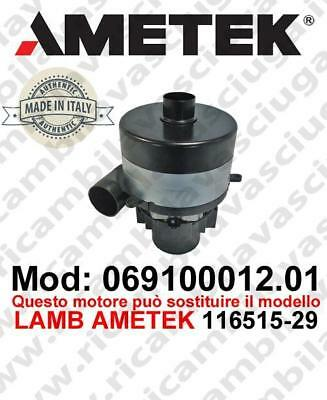 Vacuum motor 069100012.01 AMETEK ITALIA for scrubber dryer can replace the model