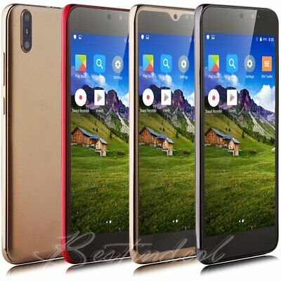 """New 5.0"""" Unlocked Mobile Cell Phone Quad Core Dual SIM Android 7.0 Smartphone UK"""